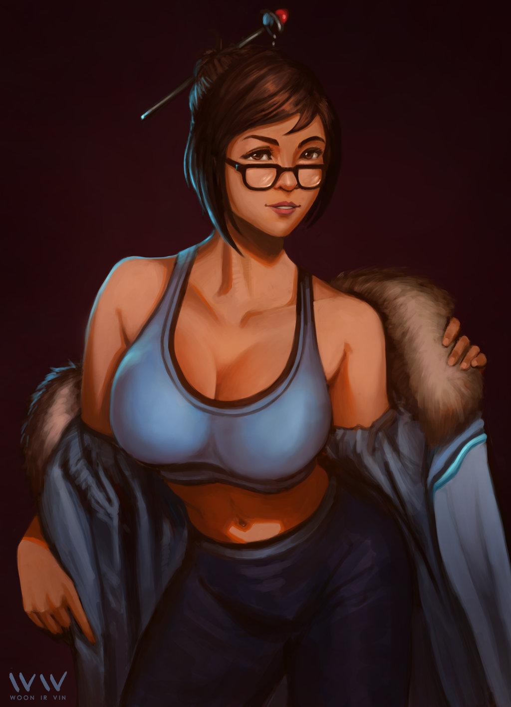 overwatch-mei-art-sexy : Gameplaying