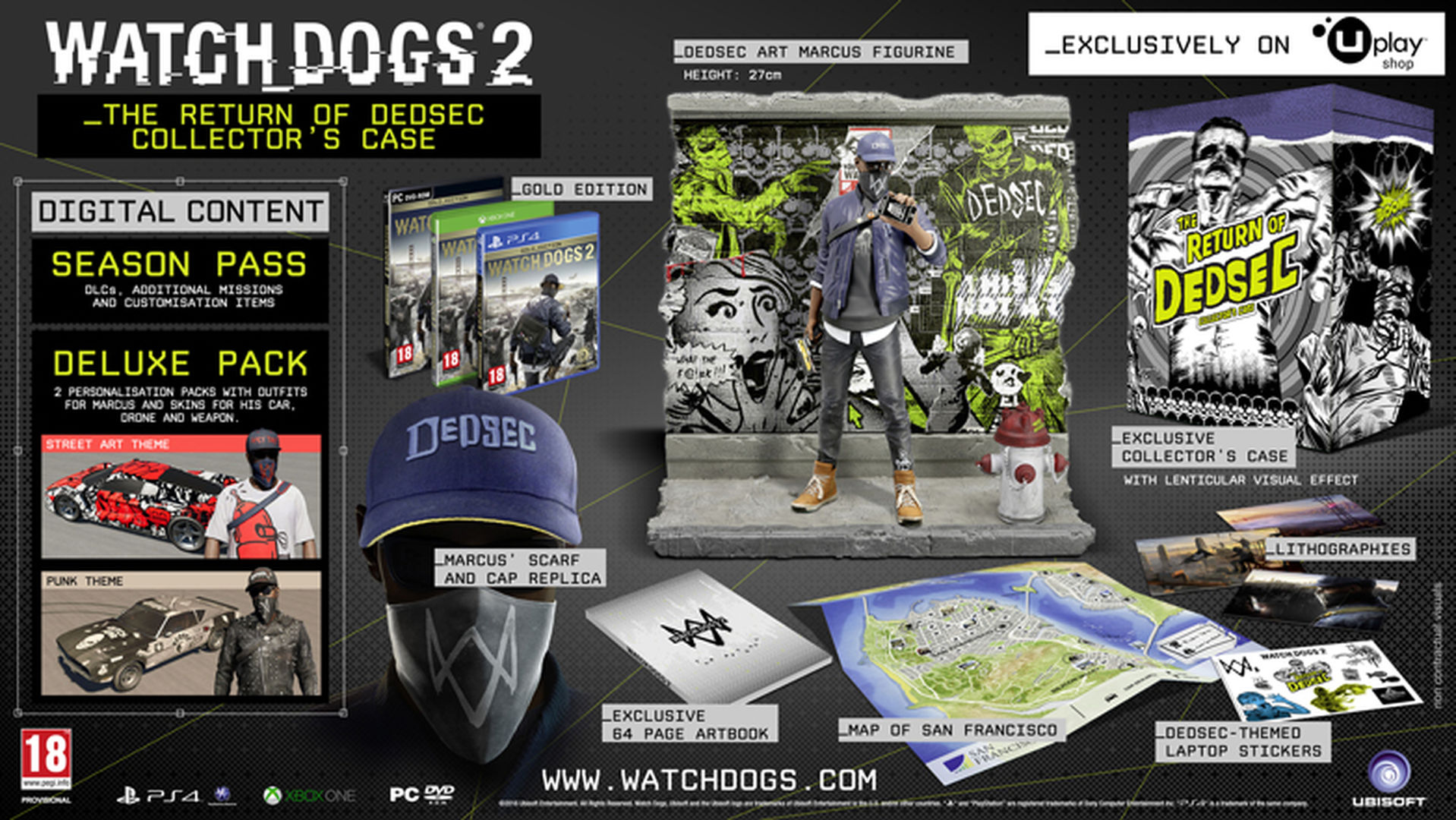 Watch Dogs 2 Official Playstation Store Pre Order: Watch Dogs 2 Collector's Editions AboutGame Playing Info