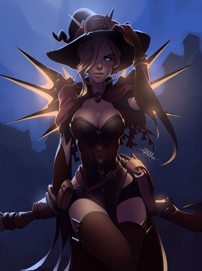Overwatch Mercy Halloween Witch | Game playing info