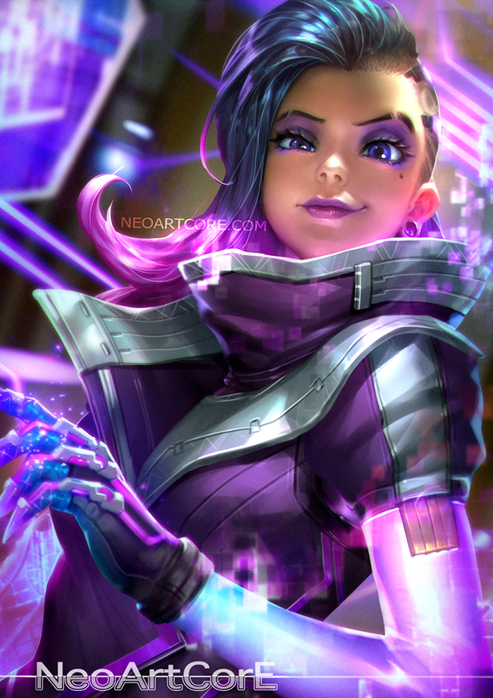 overwatch sombra cute art 2