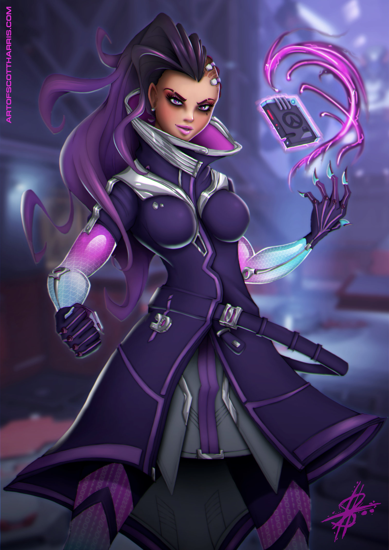 Anime Hairstyles Cosplay >> Overwatch Sombra – Sexy Fan-Art, Anime, CosplayGame playing info
